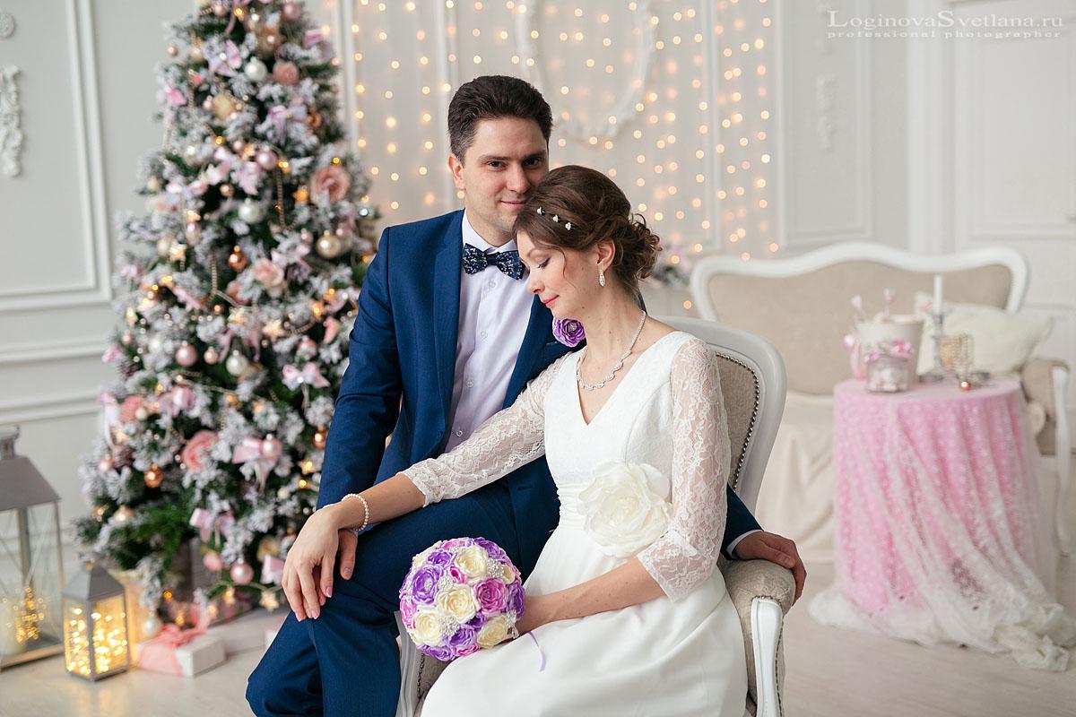 Свадебная фотосессия в студии - это красивые фотографии в ненастный день.