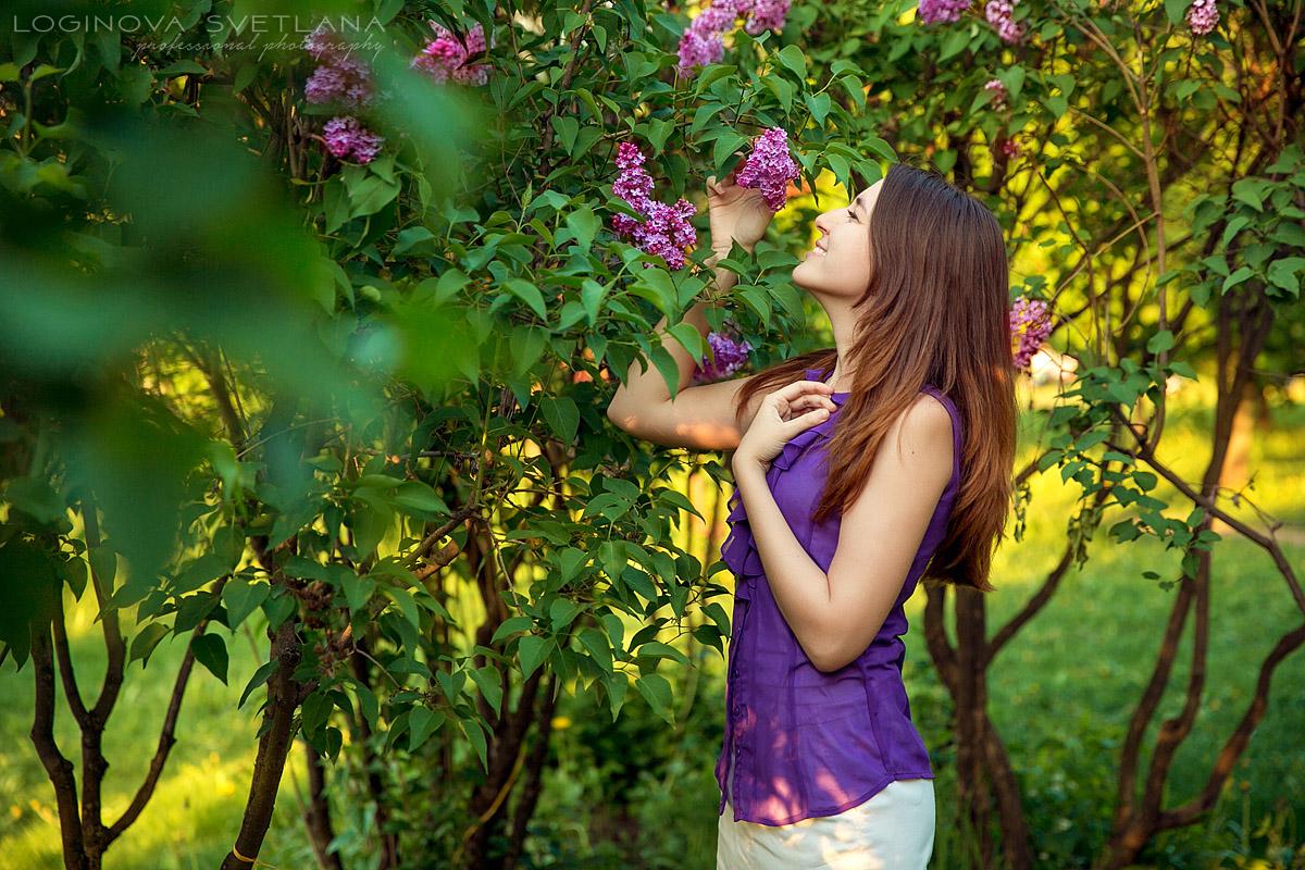 Фотосессии в цветущих садах Москвы